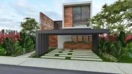 SENDEROS MAYAKOBA : Casas de estilo moderno por Art.chitecture, Taller de Arquitectura e Interiorismo 📍 Cancún, México.