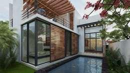 Piscinas de estilo moderno por Art.chitecture, Taller de Arquitectura e Interiorismo 📍 Cancún, México.