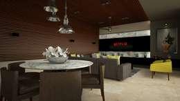 Salas de entretenimiento de estilo moderno por Vau Studio