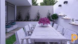 modern Garden by planeacion y proyectos constructivos s.a de c.v.