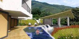 CASA L2_ San Jerónimo - Antioquia: Casas de estilo minimalista por tresarquitectos