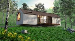 Casas de estilo moderno por tresarquitectos