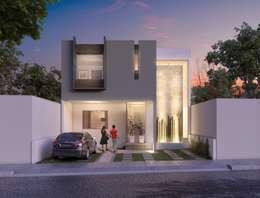 Casa FAH: Casas de estilo moderno por ARQMA Arquitectura & Diseño