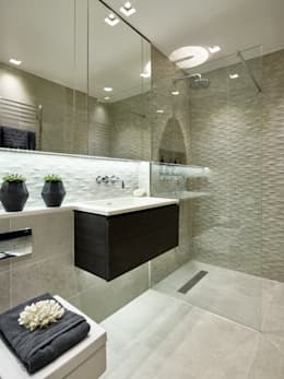 Modern contemporary bathroom: modern Bathroom by Tailored Living Interiors