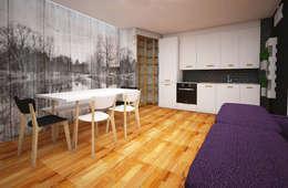 Living in stile scandinavo a Bolzano Progetto on-line: Sala da pranzo in stile in stile Scandinavo di Designer-in di Rosita Simeoli