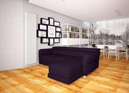 Living in stile scandinavo a Bolzano Progetto on-line: Soggiorno in stile in stile Scandinavo di Designer-in di Rosita Simeoli