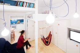 Спальная комната  в . Автор – 23bassi studio di architettura