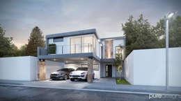 Santerra Residencial: Casas de estilo minimalista por Pure Design
