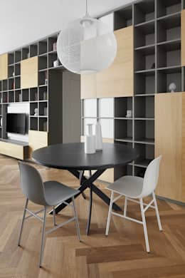 modern Dining room by disegnoinopera