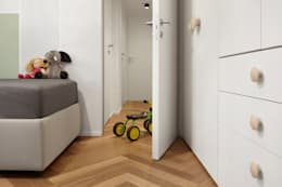 modern Nursery/kid's room by disegnoinopera