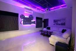 modern Media room by The Inner Story