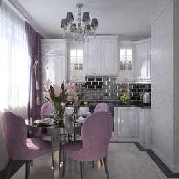 Cocinas de estilo ecléctico por Дизайн бюро Оксаны Моссур