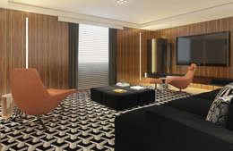 غرفة الميديا تنفيذ STUDIO GUTO MARTINS