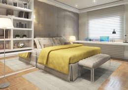 غرفة نوم تنفيذ STUDIO GUTO MARTINS