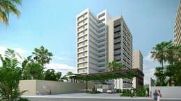 Acceso principal: Casas de estilo moderno por TaAG Arquitectura