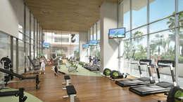 Gym: Gimnasios de estilo moderno por TaAG Arquitectura