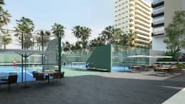 Instalaciones deportivas: Casas de estilo moderno por TaAG Arquitectura