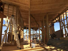 proceso constructivo : Casas de estilo moderno por Rodrigo Chávez Arquitecto