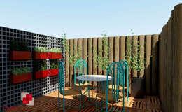 Deck: Jardins rústicos por Mais Arquitetura 34
