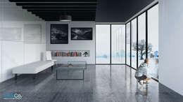 Proyecto Residencia Su. Estudio - Zapopan, Jalisco.: Estudios y oficinas de estilo minimalista por Unikco Arquitectos