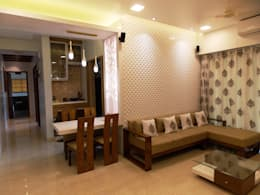 LIVING & DINING: modern Dining room by J SQUARE - Architectural Studio