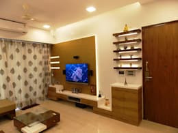 LIVING: modern Living room by J SQUARE - Architectural Studio