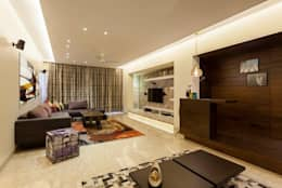 Choudhary Residence, Juhu, Mumbai: eclectic Living room by Inscape Designers