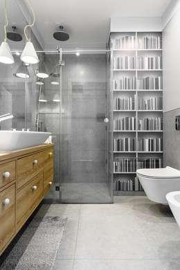 Bagno in stile in stile Scandinavo di Saje Architekci Joanna Morkowska-Saj