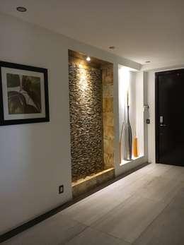 13 ideas para iluminar las paredes con nichos sensacionales On acabados en piedra para interiores