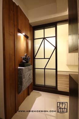 李字型拉門:  窗 by 協億室內設計有限公司