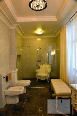 ИНТЕРЬЕРЫ ЗАГОРОДНОГО ДОМА: Ванные комнаты в . Автор – Архитектурная Мастерская Георгия Пряничникова