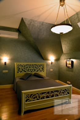 ИНТЕРЬЕРЫ ЗАГОРОДНОГО ДОМА: Спальни в . Автор – Архитектурная Мастерская Георгия Пряничникова