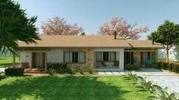Casas de estilo rústico por Cíntia Schirmer | Estúdio de Arquitetura e Urbanismo