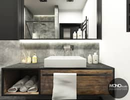 industrial Bathroom by MONOstudio