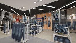 Diseño tienda de ropa: Oficinas y tiendas de estilo  por Dies diseño de espacios
