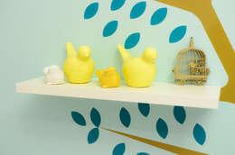 Projekty,  Pokój dziecięcy zaprojektowane przez PRISCILLA BORGES ARQUITETURA E INTERIORES