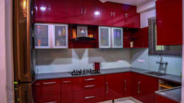 Residence Project with Modern and Colorful Design: modern Kitchen by Nifty Interio