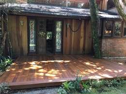 Terrazas de estilo  de Recyklare Projetos de Arquitetura , Restauro & Conservação