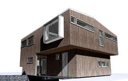 Render: Casas de estilo moderno por Cordova Arquitectura y Construcción .