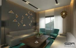 Residential Apartment : modern Living room by S2A studio