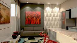 Salas / recibidores de estilo moderno por P&I Arquitetura