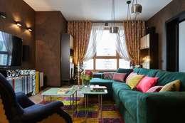 """Квартира в ЖК """"Wellton Park"""" - Алиса в стране чудес: Гостиная в . Автор – Вира-АртСтрой"""