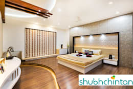 Master bed : modern Bedroom by shubhchintan