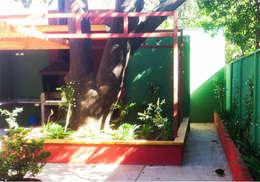 Detalle de jardinera: Casas de estilo moderno por DIMA Arquitectura y Construcción