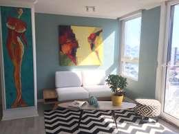 Espacios mas grandes : Livings de estilo moderno por Studio Barla