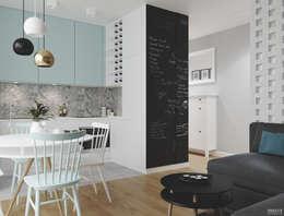 غرفة السفرة تنفيذ PRØJEKTYW | Architektura Wnętrz & Design