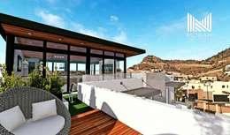 Projekty,  Taras zaprojektowane przez MOBAH Arquitectura
