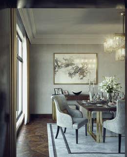 living room+dining:  غرفة السفرة تنفيذ m.frahat
