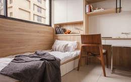 Projekty,  Sypialnia zaprojektowane przez 双設計建築室內總研所