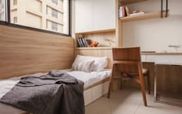 Dormitorios de estilo escandinavo por 双設計建築室內總研所